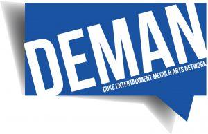 DEMAN Duke Entertainment Media & Arts Network logo